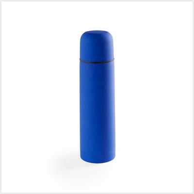 Gourde isotherme HOSBAN inox - 50cl - personnalisation 1 couleur Bleu