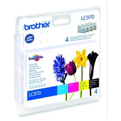 Cartouche Impression BROTHER LC970VALBP Multipack 500093