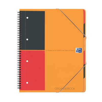 Cahier trieur Organiserbook OXFORD A4+ perforé & quadrillé 5x5 - 160 pages - Le lot de 2