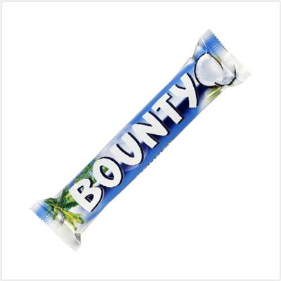Barres chocolat noix de coco BOUNTY 57 g - Le lot de 24