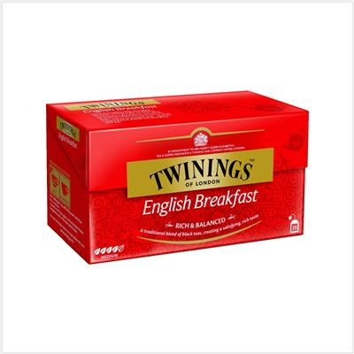 Thé Original English Breakfast TWININGS - La boîte de 25 sachets