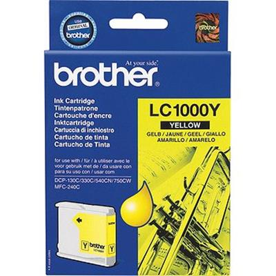 Cartouche Impression BROTHER LC1000Y Jaune 500028