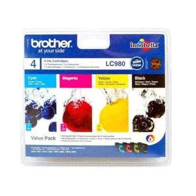 Cartouche Impression BROTHER LC980VALBP Multipack 500049