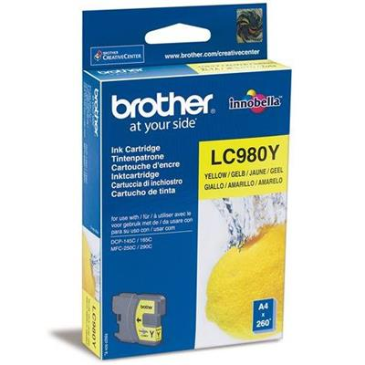 Cartouche Impression BROTHER LC980Y Jaune 500057