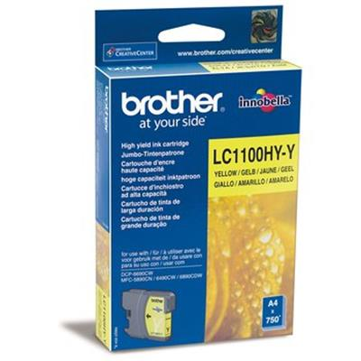 Cartouche Impression BROTHER LC1100HYY Jaune 500065