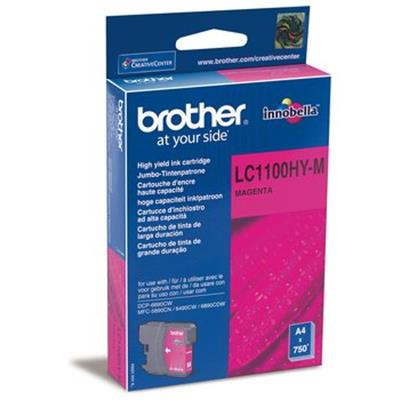 Cartouche Impression BROTHER LC1100HYM Magenta 500064