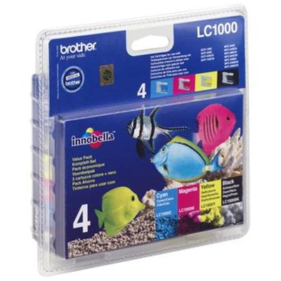 Cartouche Impression BROTHER LC1000VALBP Multipack 500051