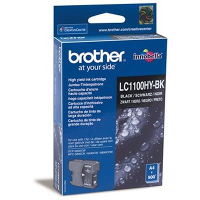 Cartouche Impression BROTHER LC1100HYBK Noir 500062