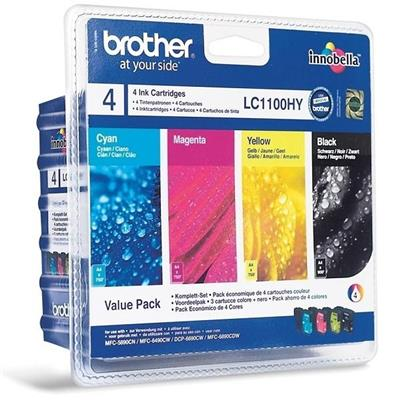 Cartouche Impression BROTHER LC1100HYVALBP Multipack 500066