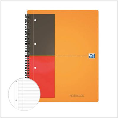Notebook A4+ OXFORD perforé - Ligné & margé - Le lot de 2 blocs